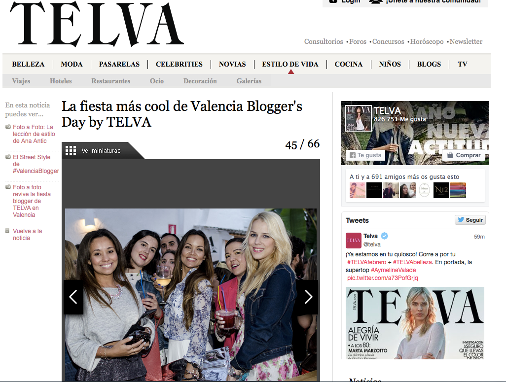 Invitada de Prensa a Fiesta Valencia Bloggeres Day by Telva