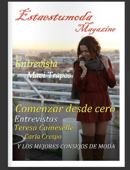 Portada de la revista y entrevista prensa