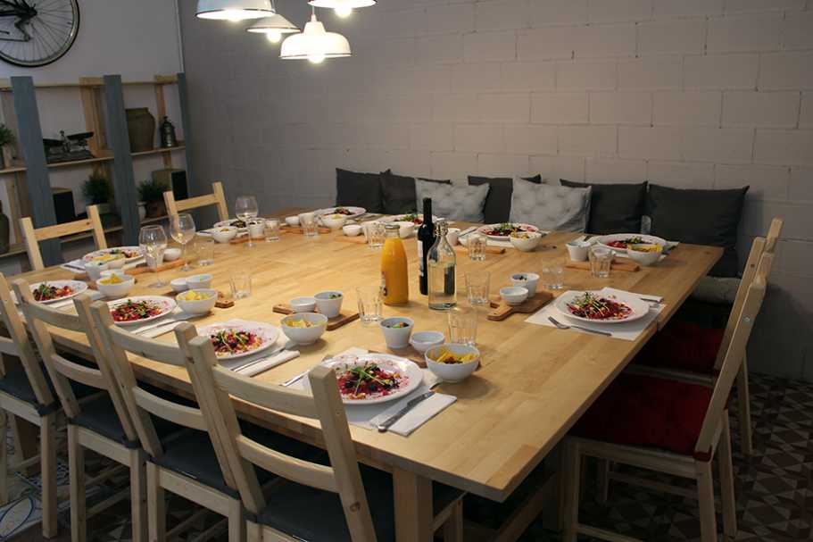 mesa puesta
