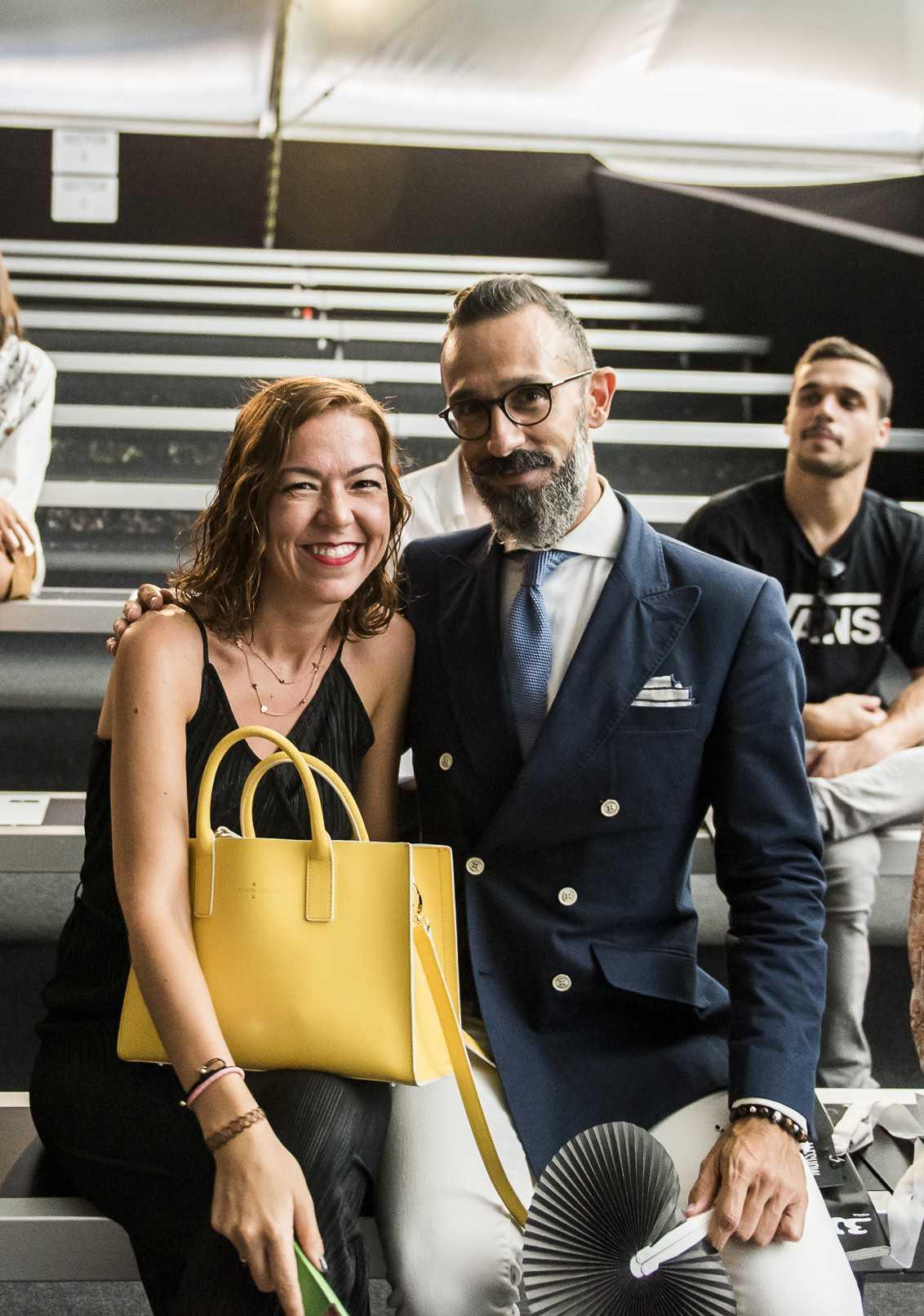 Lucas Balboa influencers en front row pasarela