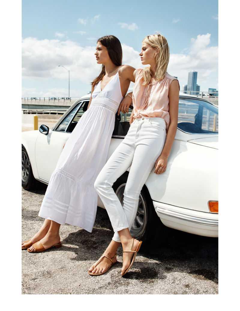 vestido largo blanco vestidos HM