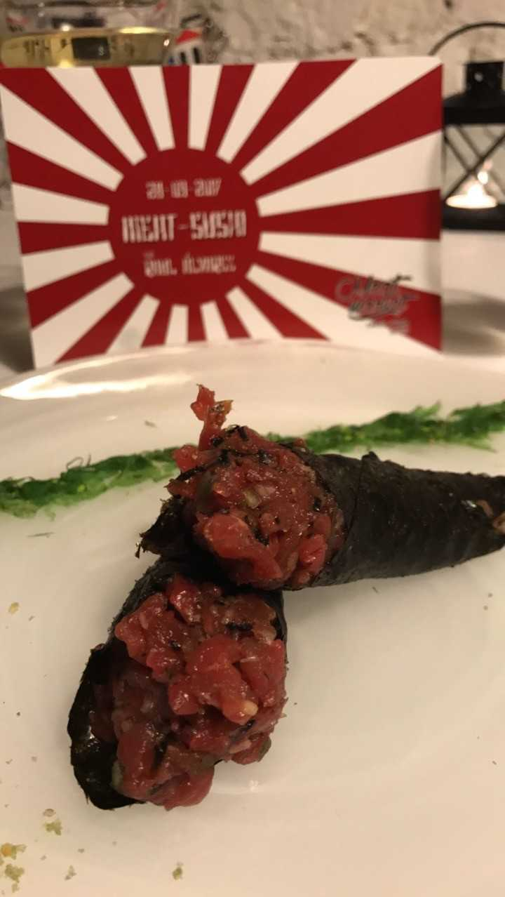 temaki de steak tartar