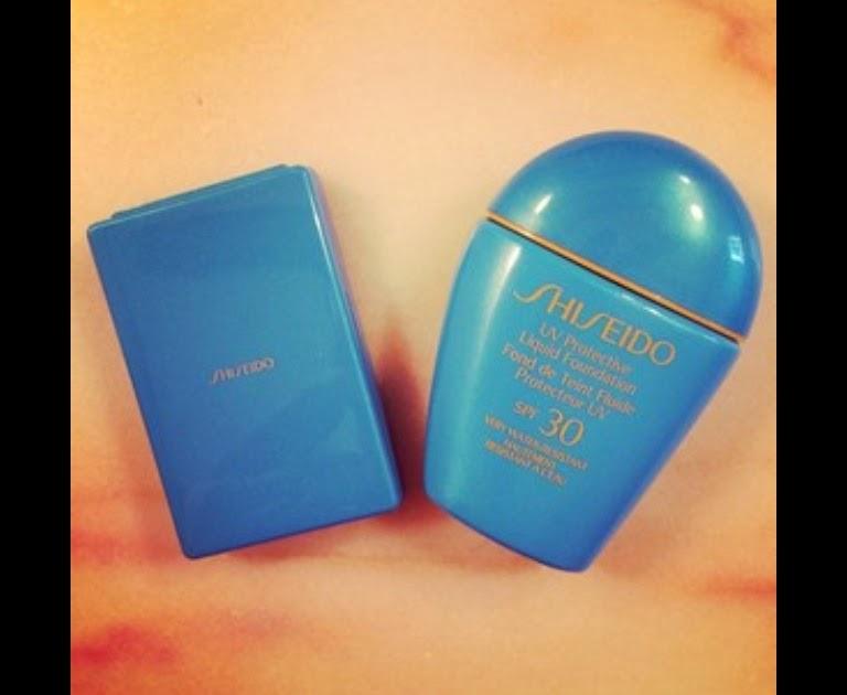 protector solar + maquillaje de Shiseido