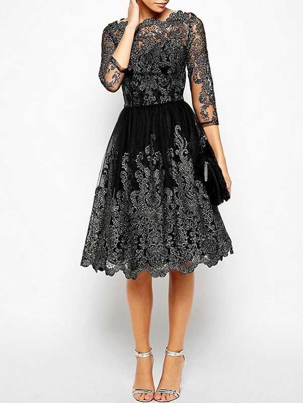 Vestido Negro y Plata por menos de