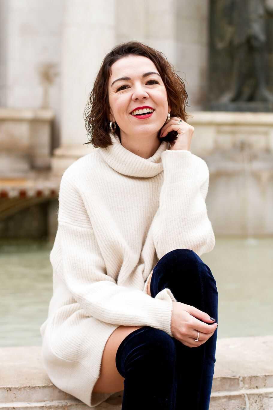 influencer valencia maxi jersey de cuello alto