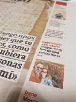 Nuestra luna de miel en el diario Las Provincias
