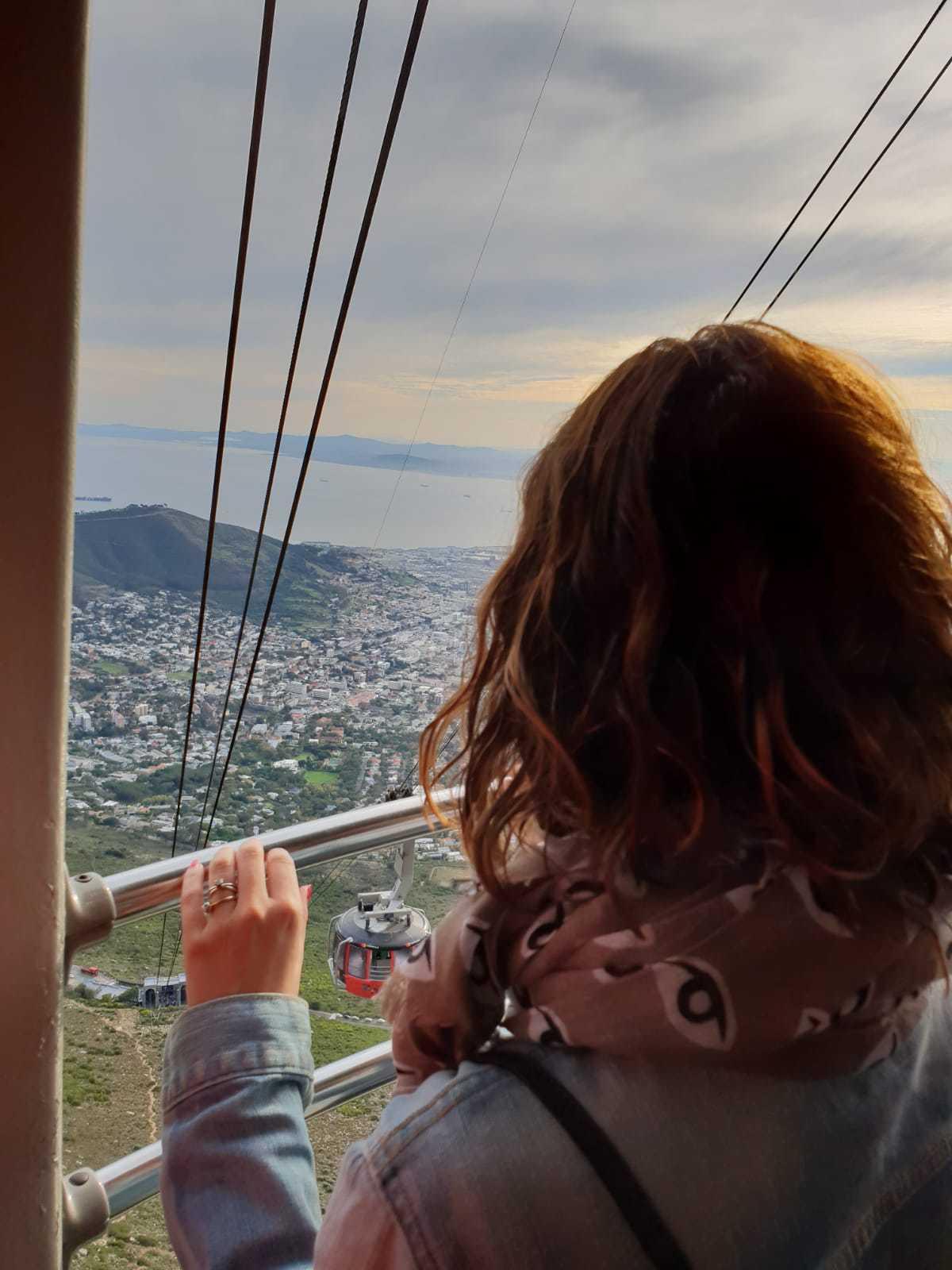 Subida en Telesférico a Table Mountain