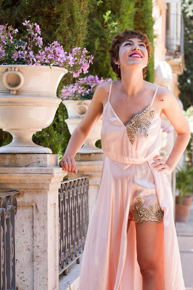 vestido pedrería