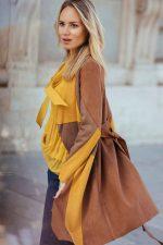 Abrigos color block, una tendencia para este invierno.