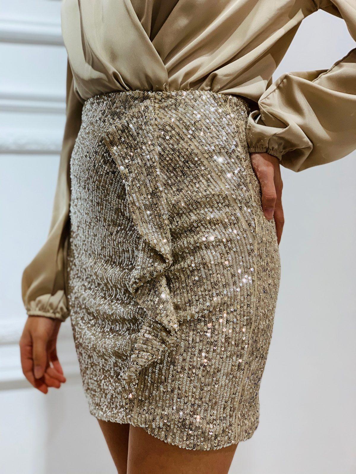 falda lentejuelas tendencia