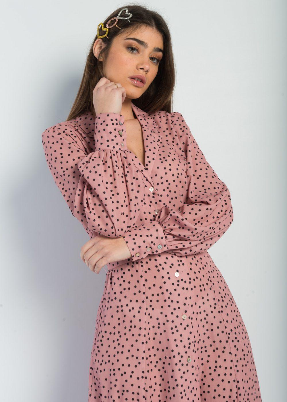vestido-rosa-lunares