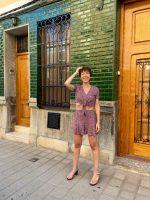 Falda pantalón y un precioso conjunto de dos piezas.