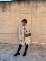 Vestido Camisero con chaleco, combinación TOP