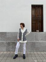 Chaleco pata de gallo: nuevo look tendencia