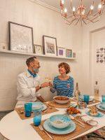Decoración de mesa inspiración mediterránea