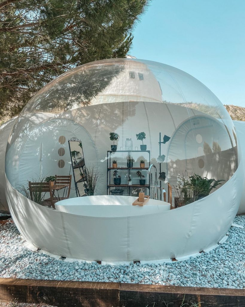 bañarte en una burbuja